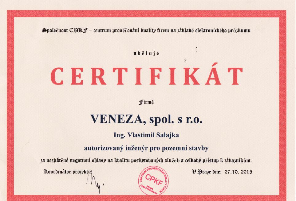 Certifikát Titulek